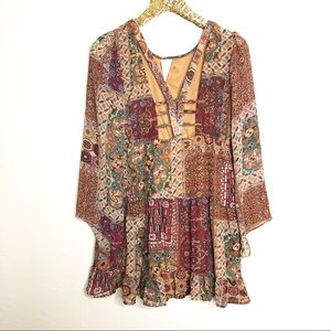 Altar'd State Cut Out Boho Fall Dress